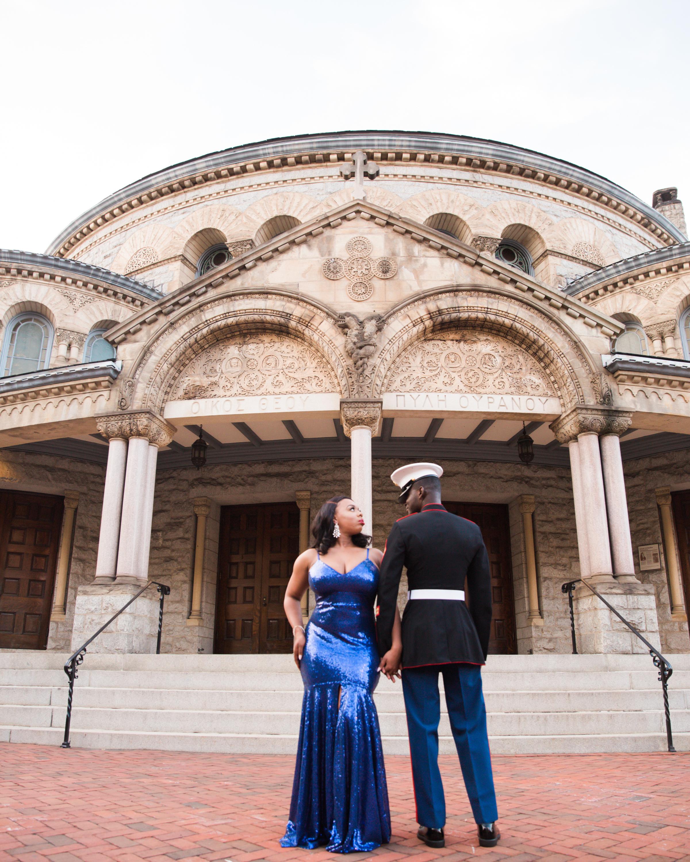 Royal Blue Marine Engagement Session Black Bride Wedding Photographers Megapixels Media Baltimore Maryland Photographers-20.jpg