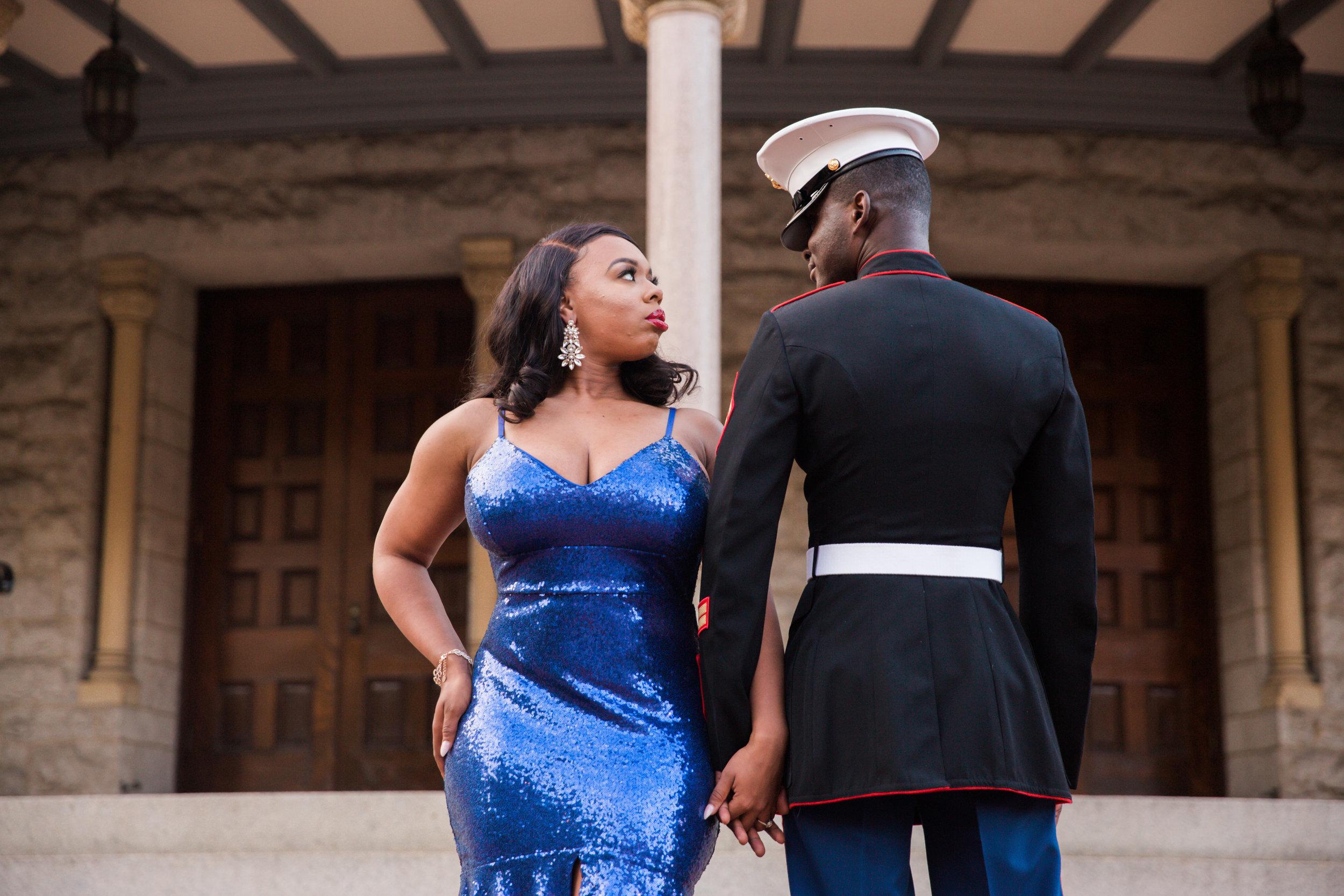 Royal Blue Marine Engagement Session Black Bride Wedding Photographers Megapixels Media Baltimore Maryland Photographers-21.jpg