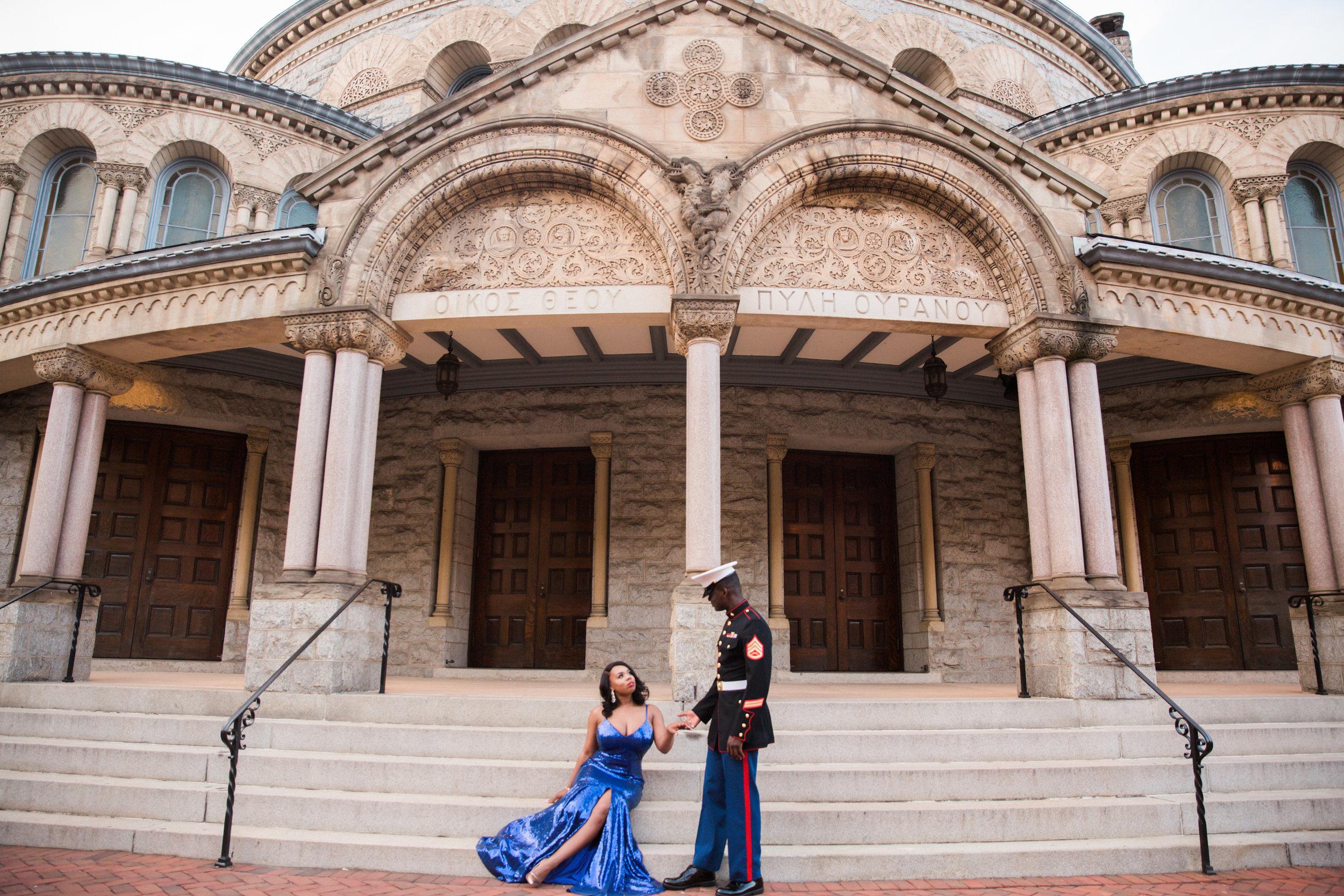 Royal Blue Marine Engagement Session Black Bride Wedding Photographers Megapixels Media Baltimore Maryland Photographers-22.jpg