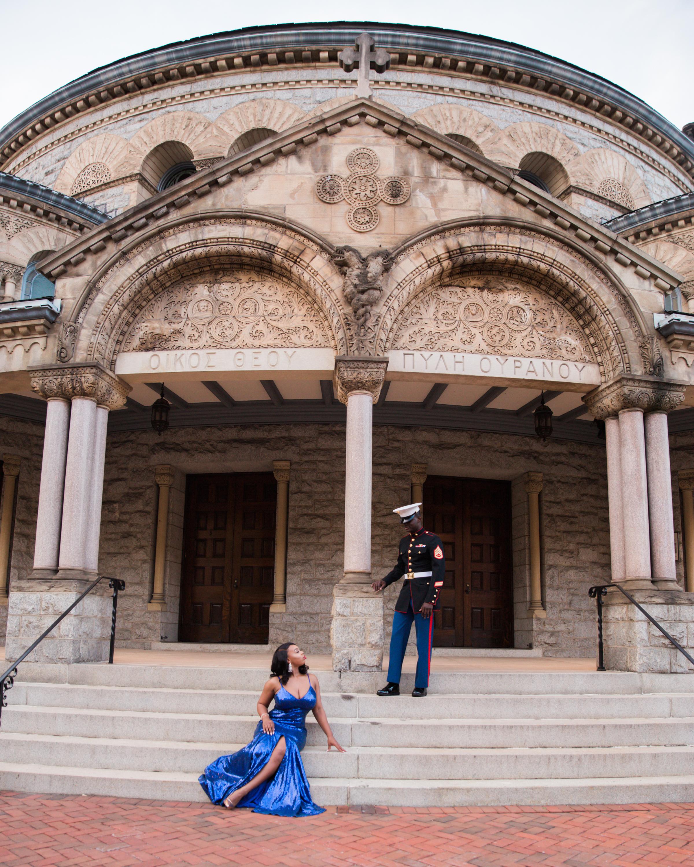 Royal Blue Marine Engagement Session Black Bride Wedding Photographers Megapixels Media Baltimore Maryland Photographers-24.jpg