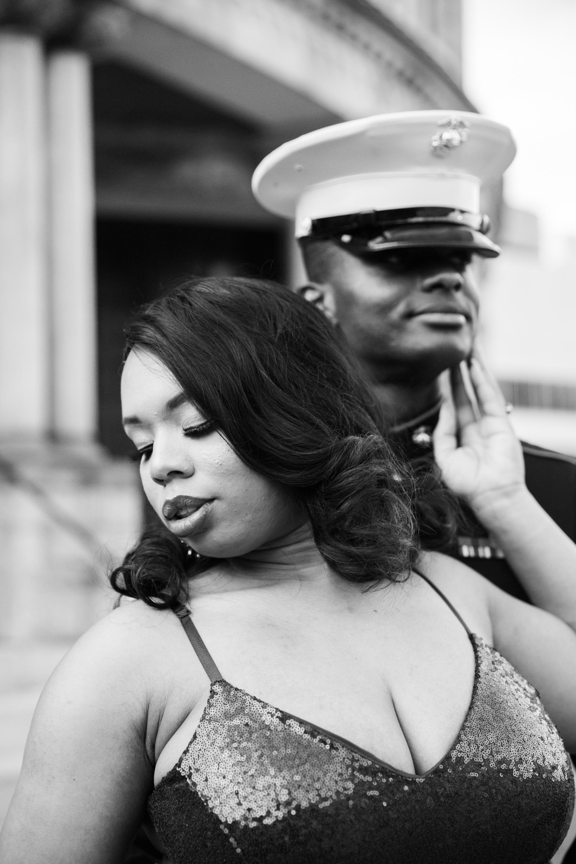 Royal Blue Marine Engagement Session Black Bride Wedding Photographers Megapixels Media Baltimore Maryland Photographers-25.jpg