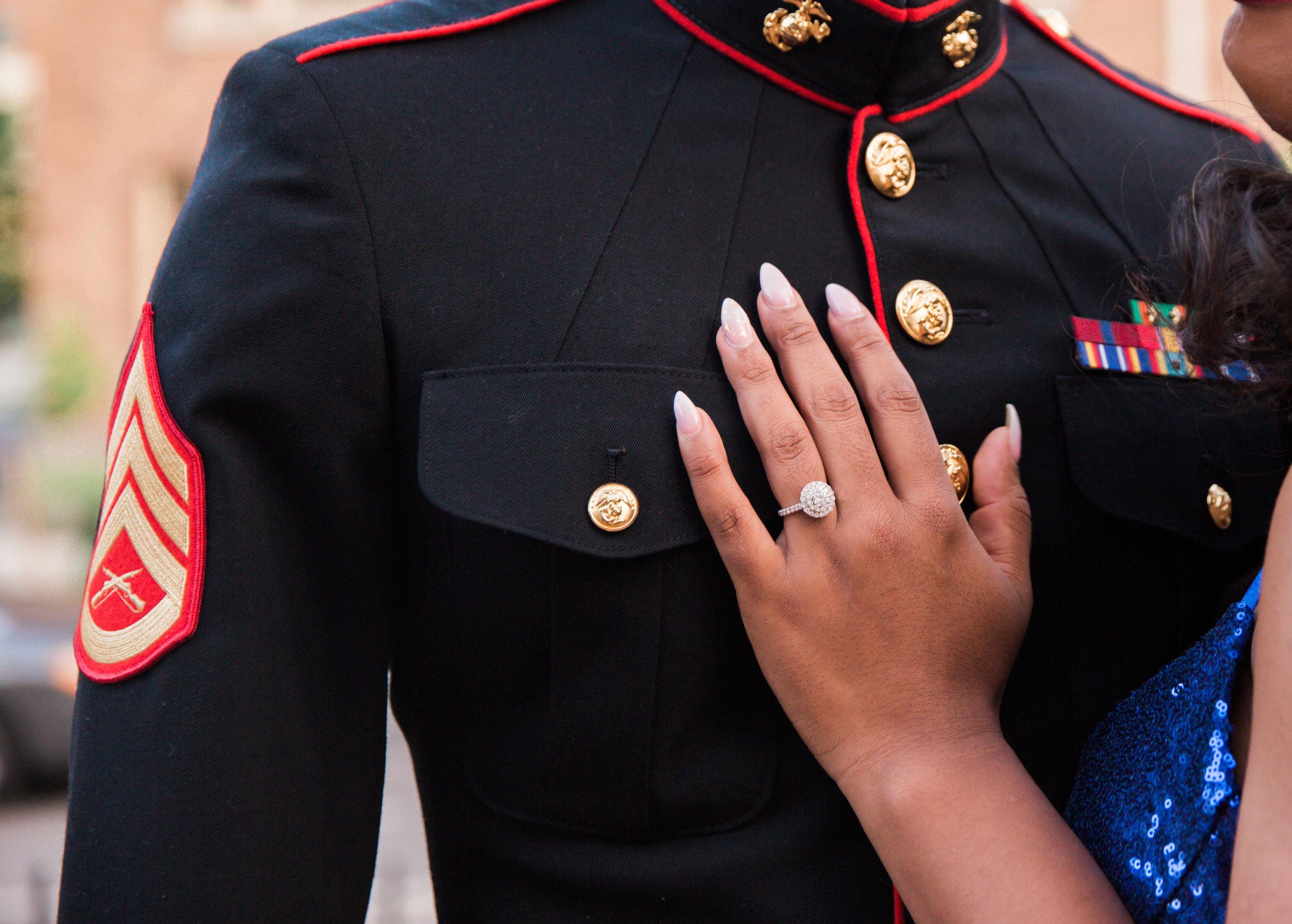 Royal Blue Marine Engagement Session Black Bride Wedding Photographers Megapixels Media Baltimore Maryland Photographers-26.jpg