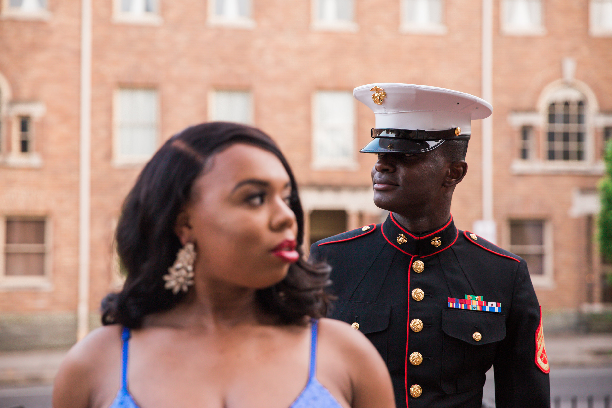 Royal Blue Marine Engagement Session Black Bride Wedding Photographers Megapixels Media Baltimore Maryland Photographers-27.jpg
