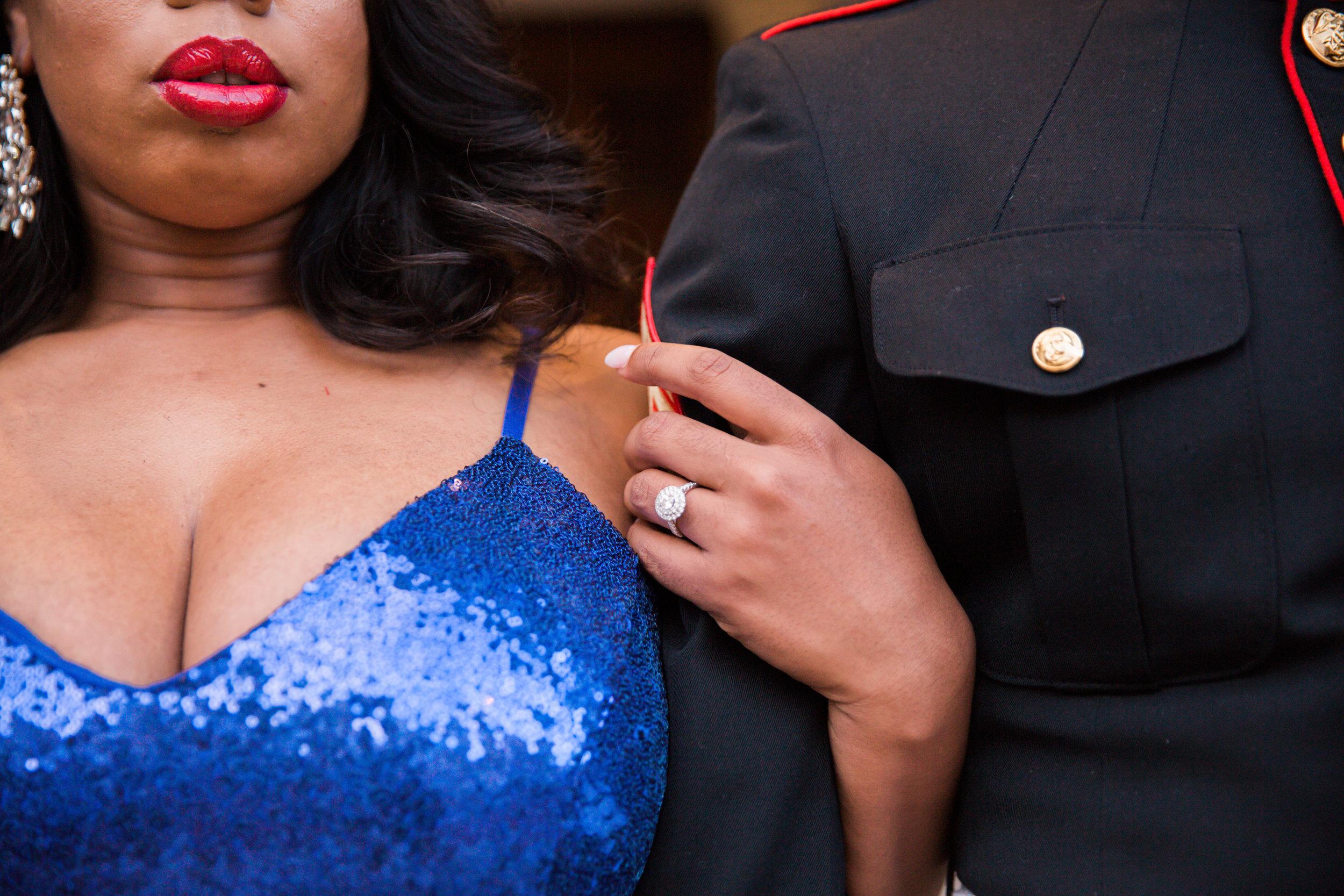 Royal Blue Marine Engagement Session Black Bride Wedding Photographers Megapixels Media Baltimore Maryland Photographers-28.jpg