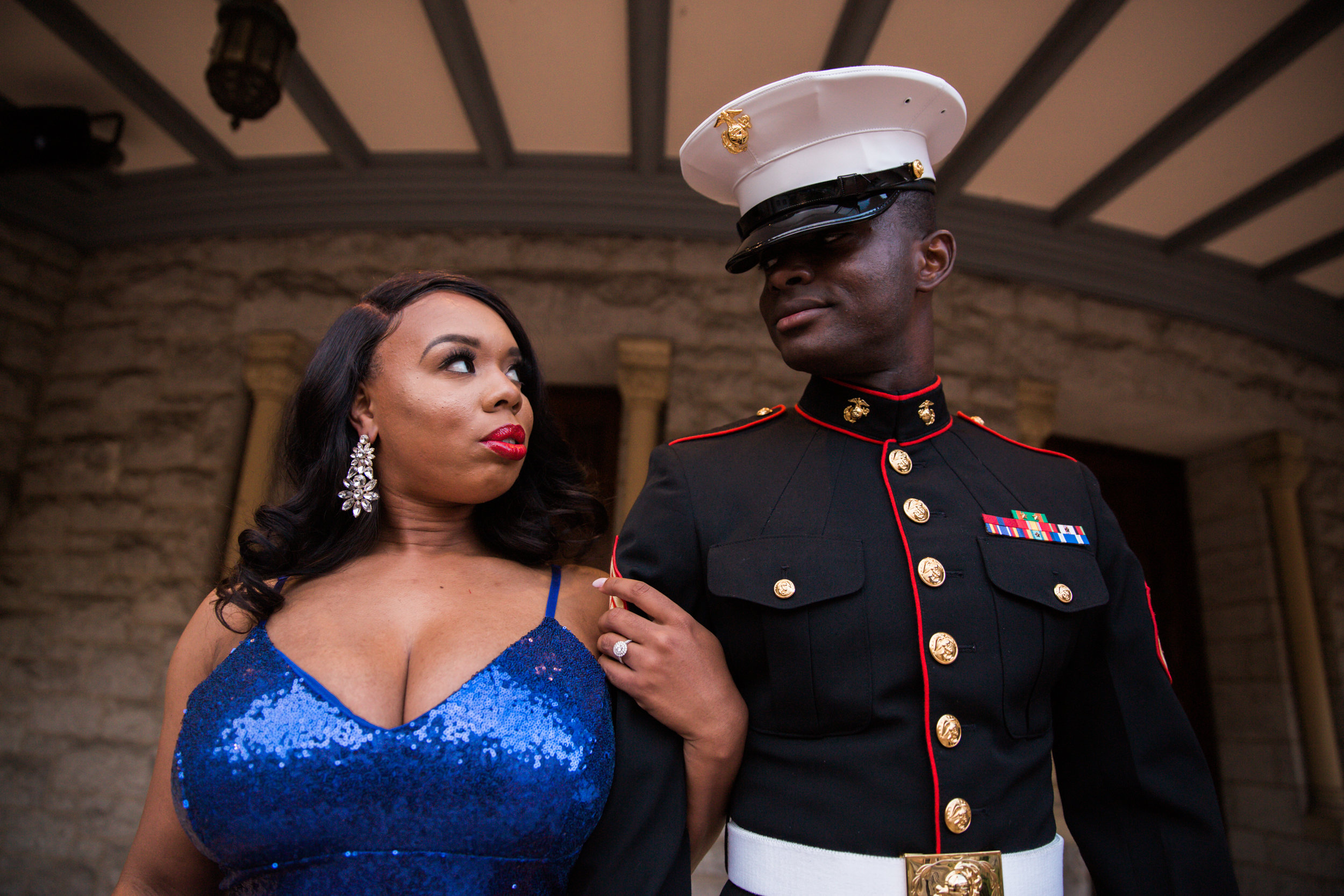 Royal Blue Marine Engagement Session Black Bride Wedding Photographers Megapixels Media Baltimore Maryland Photographers-29.jpg