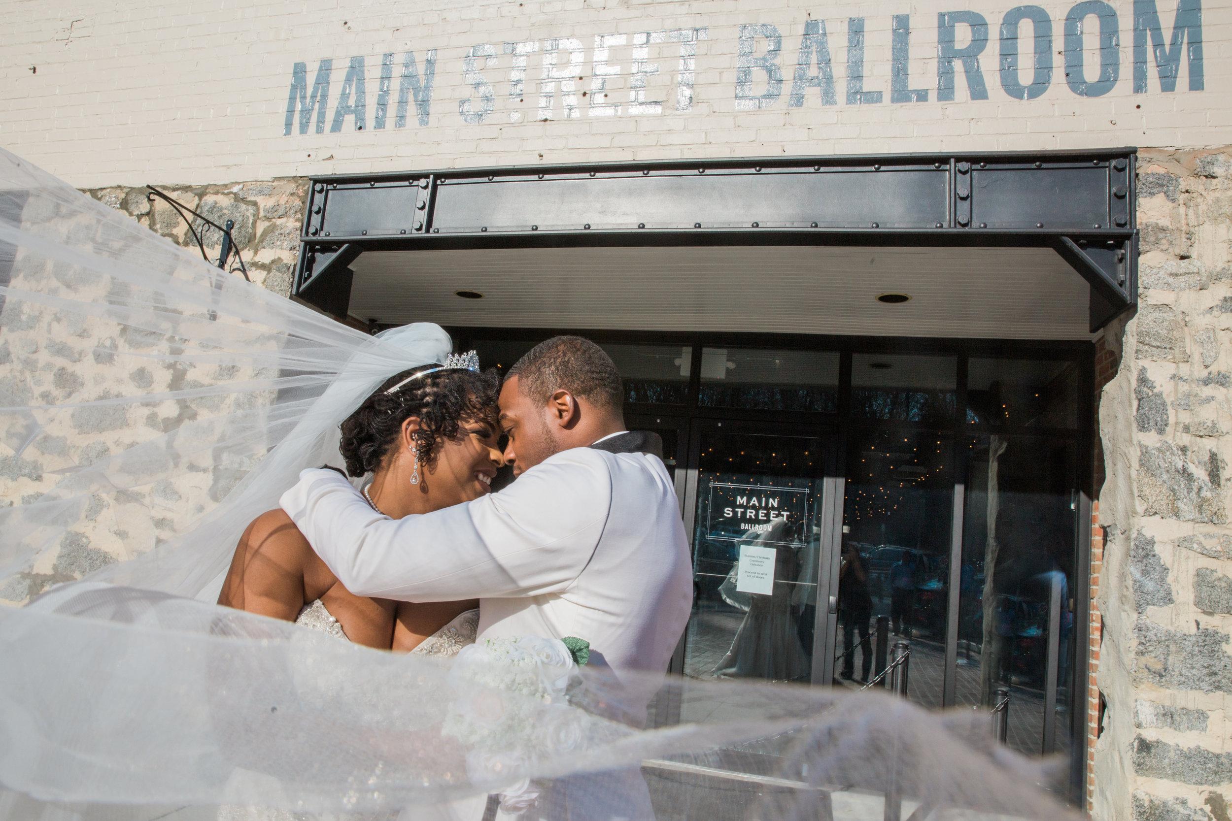 Main Street Ballroom Wedding Ellicott City Wedding Photographer Megapixels Media Photography Black Natural Hair Bride Black Bridesmaid Dresses (49 of 78).jpg