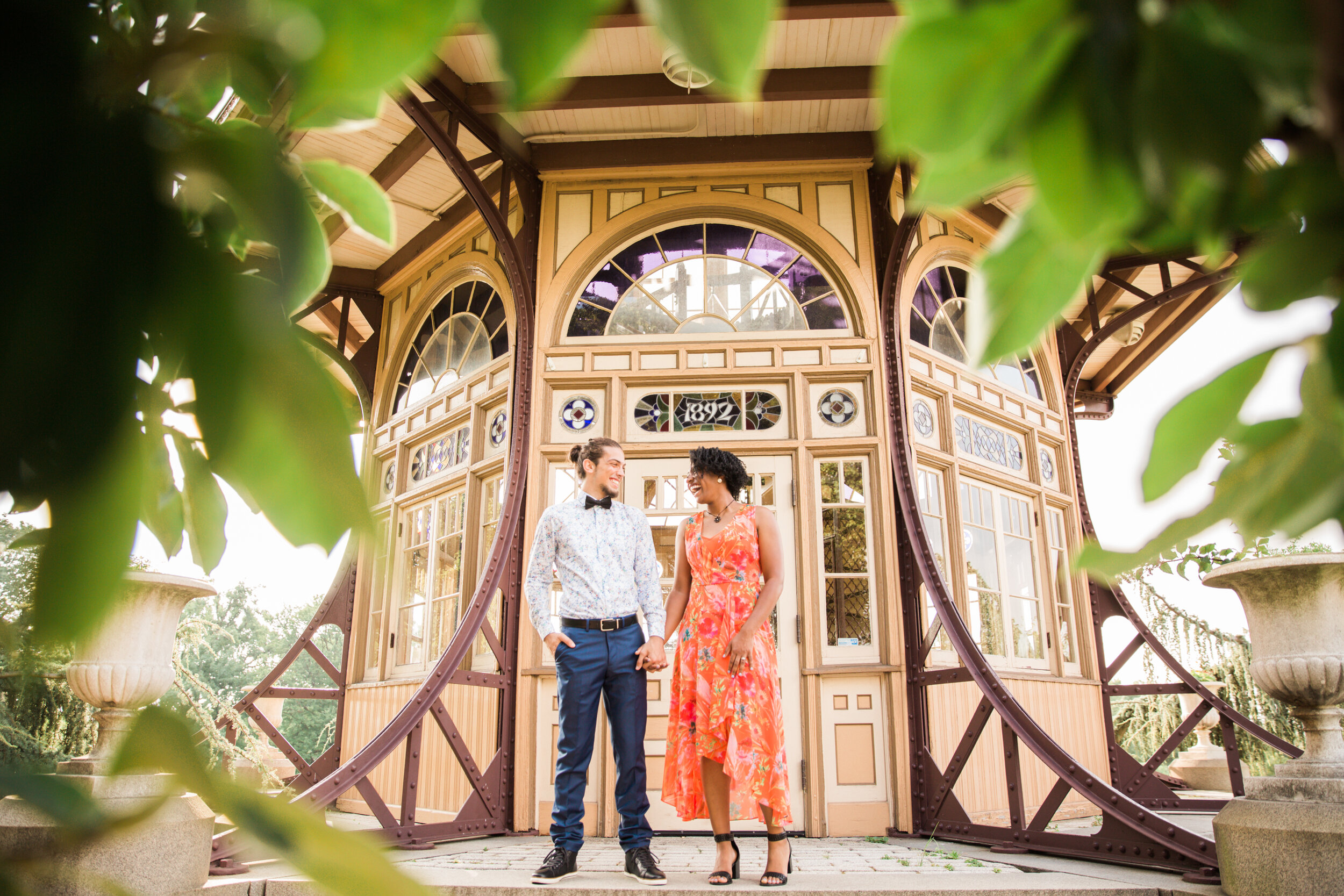 Maryland Natural Light Photographer Golden Hour Engagement Session in Baltimore Maryland Patterson Park Pagoda DC Wedding Photographers Megapixels Media Photography and Videography Mixed Couple Multiracial Bride and Groom-6.jpg
