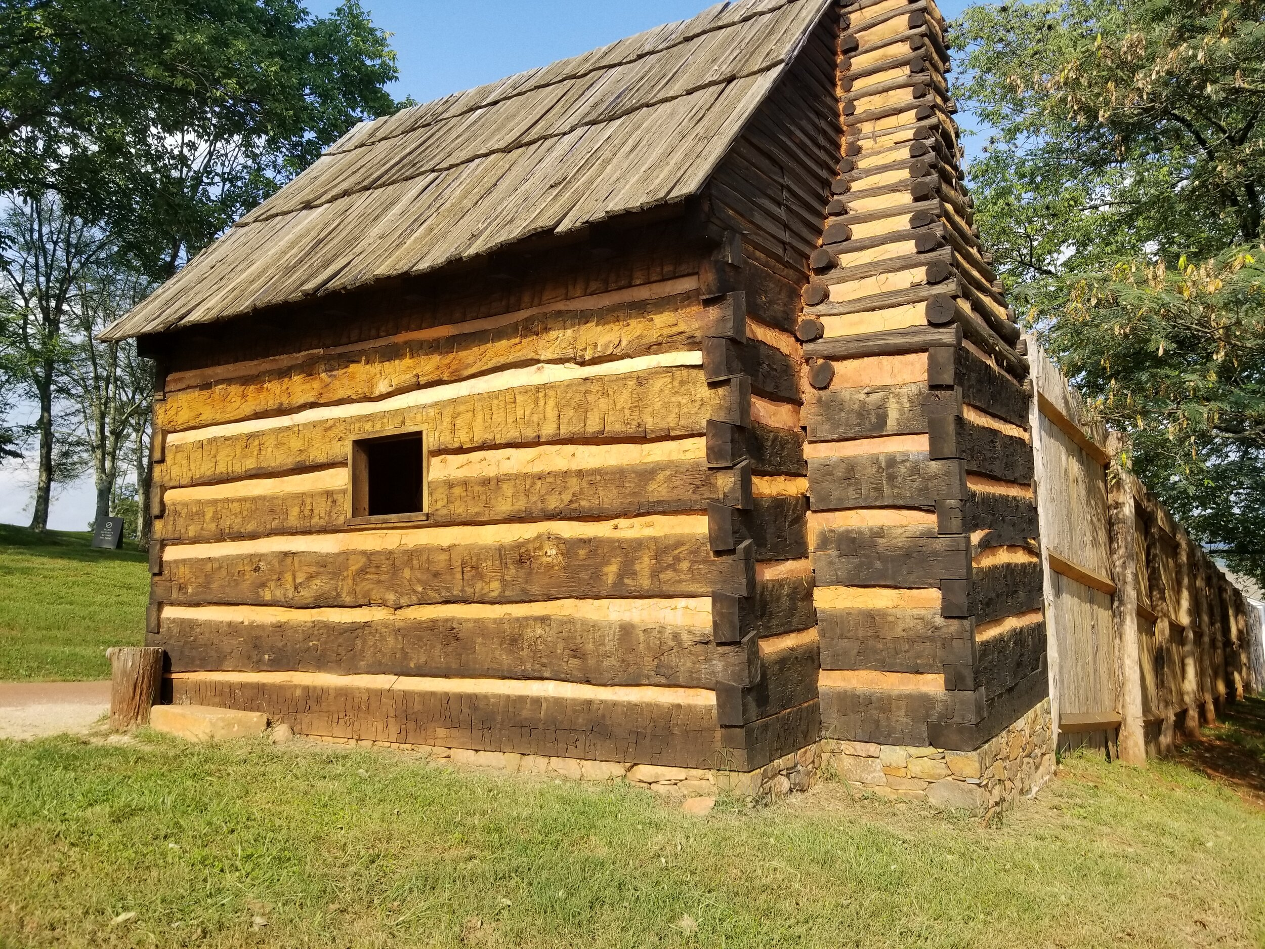 Cabin for enslaved laborers at Thomas Jefferson's Monticello in Charlottesville, Virginia
