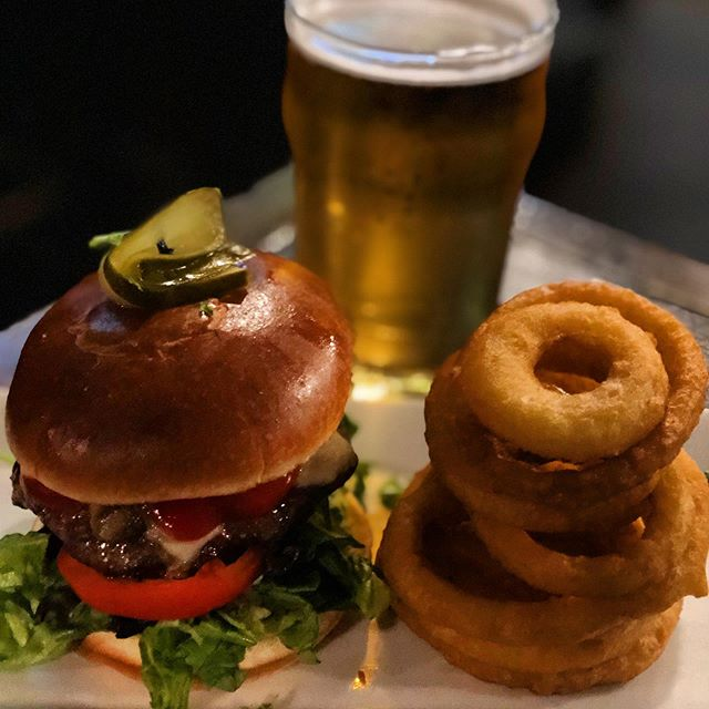 HAPPY GAME DAY // Join us for our game day special: Burger + Pint for $16. Available all season long (including AWAY games as well)!