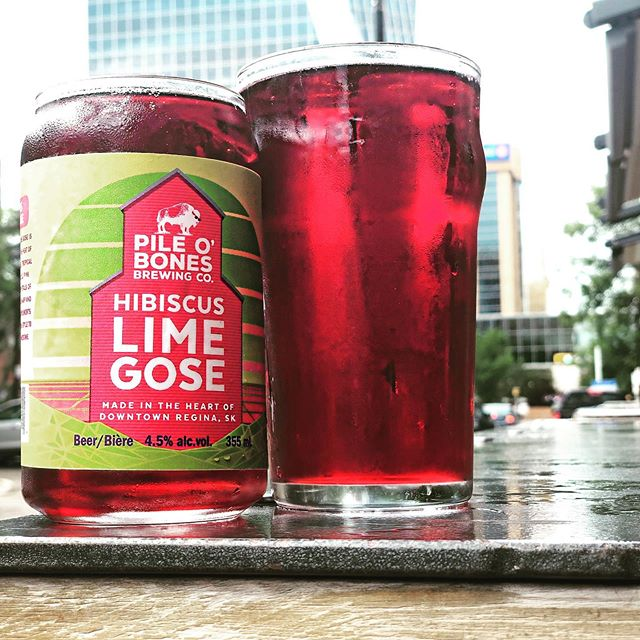Kick off your weekend w/ the freshly tapped @pileobonesbrews Hibiscus Lime Gose! It's on for $6 as part of our Friday all day #happyhour.