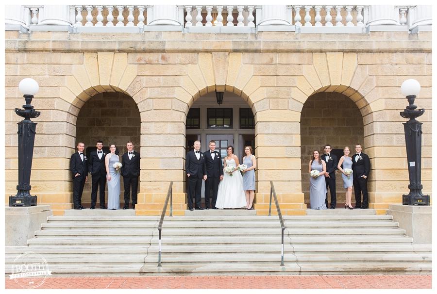 elegant black tie UW Madison wedding