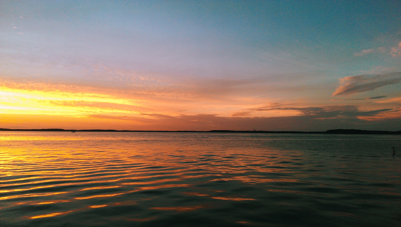 sunset over Lake Mendota in Madison, WI