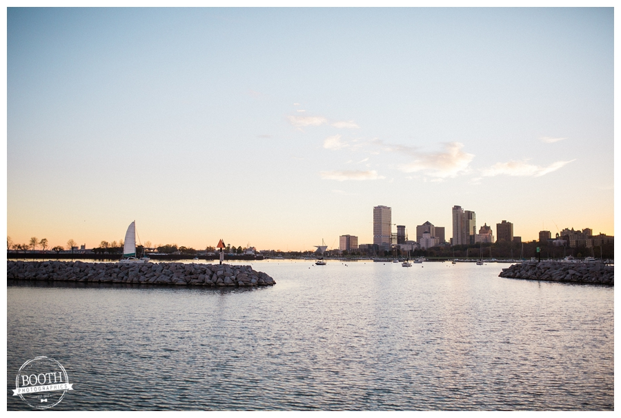 Milwaukee Skyline on Lake Michigan