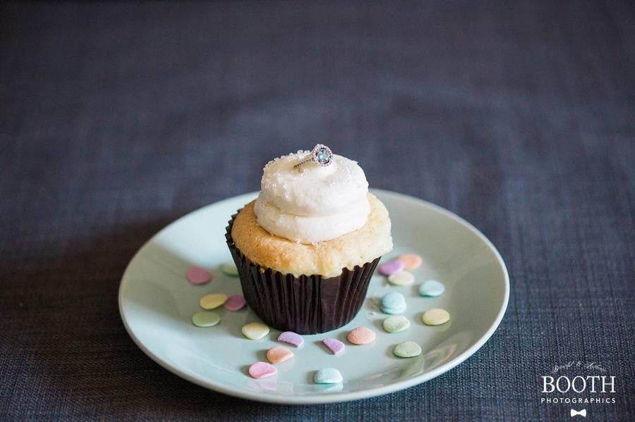 cupcake engagement ring photo