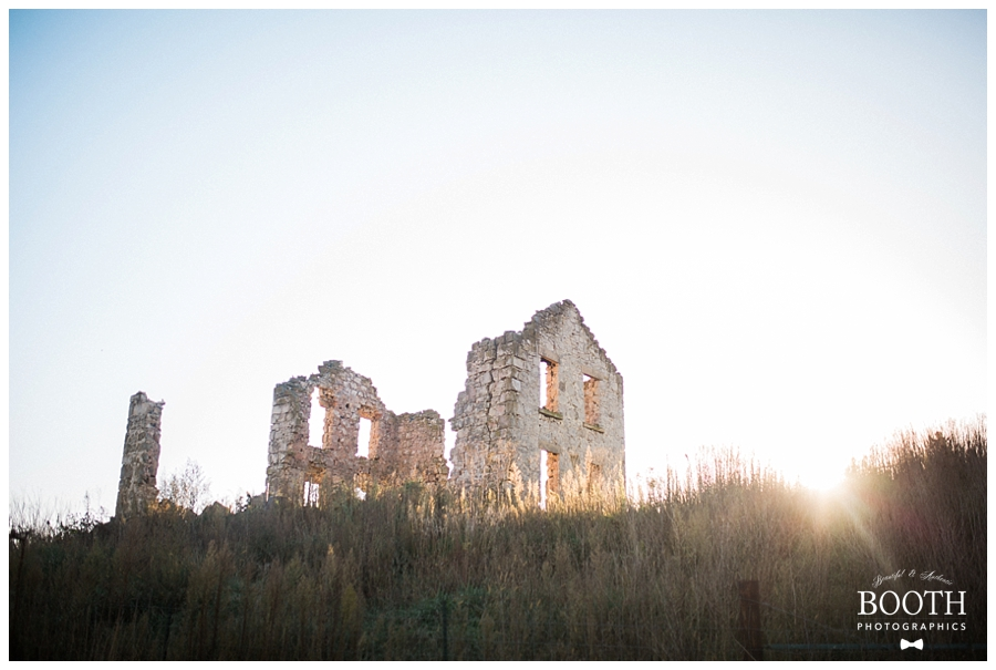 Destination fine art wedding at European ruins
