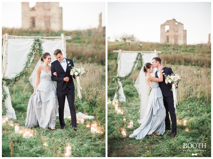 outdoor fine art wedding ceremony