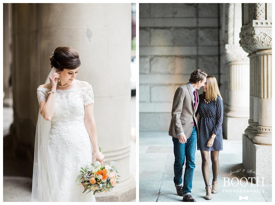 elegant bride at the Chicago Lyric Opera House