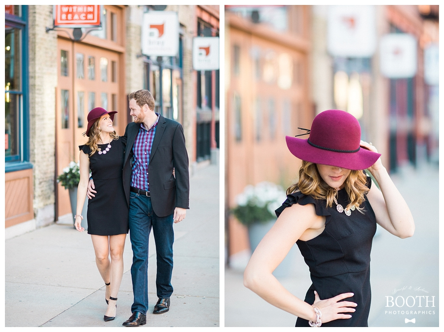 classy city engagement session