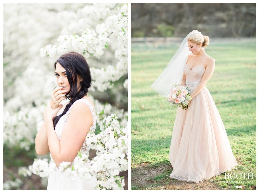 brides wearing BHLDN gowns