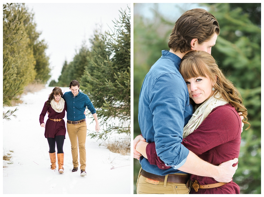 snowy engagement