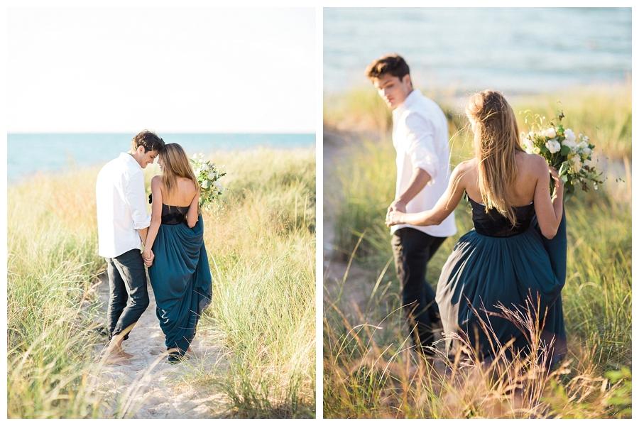 fine art elopement photography Lake Michigan