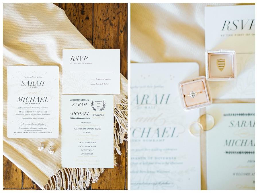 rustic fall wedding invitation suite