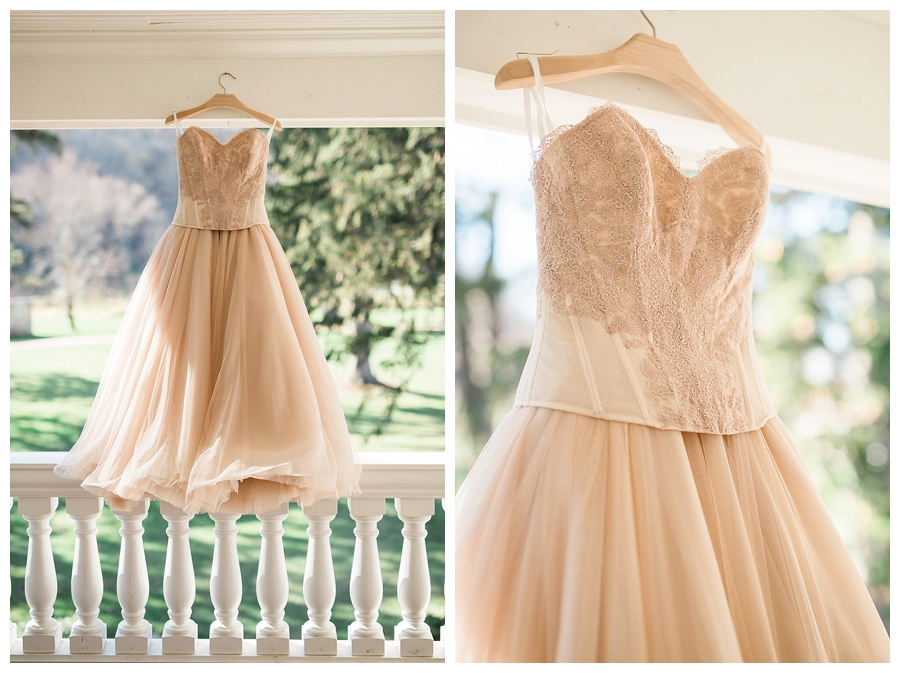 blush BHLDN two piece wedding separates for a rustic fall outdoor wedding