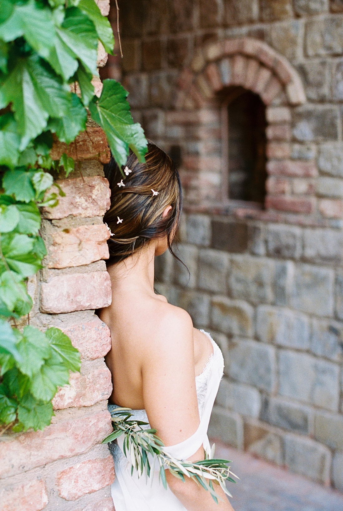 fine art napa valley winery bridal session