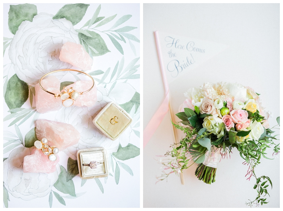 styled jewelry and florals