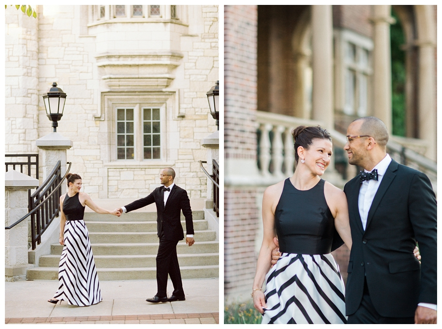 engagement photography at the UW campus