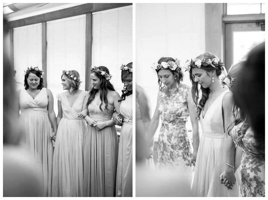fine art photography of bride getting ready