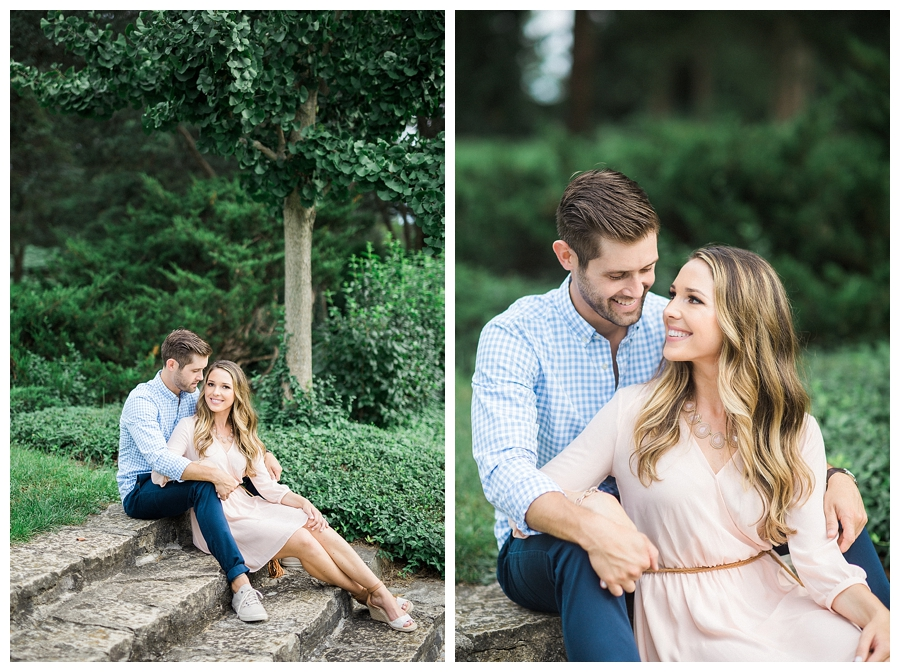 fine art engagement session at Morton Arboretum