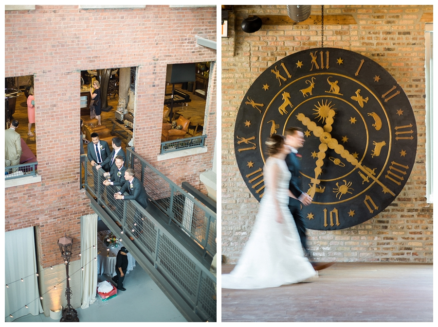 fine art wedding photography of cocktail hour at Artifact Events of Chicago