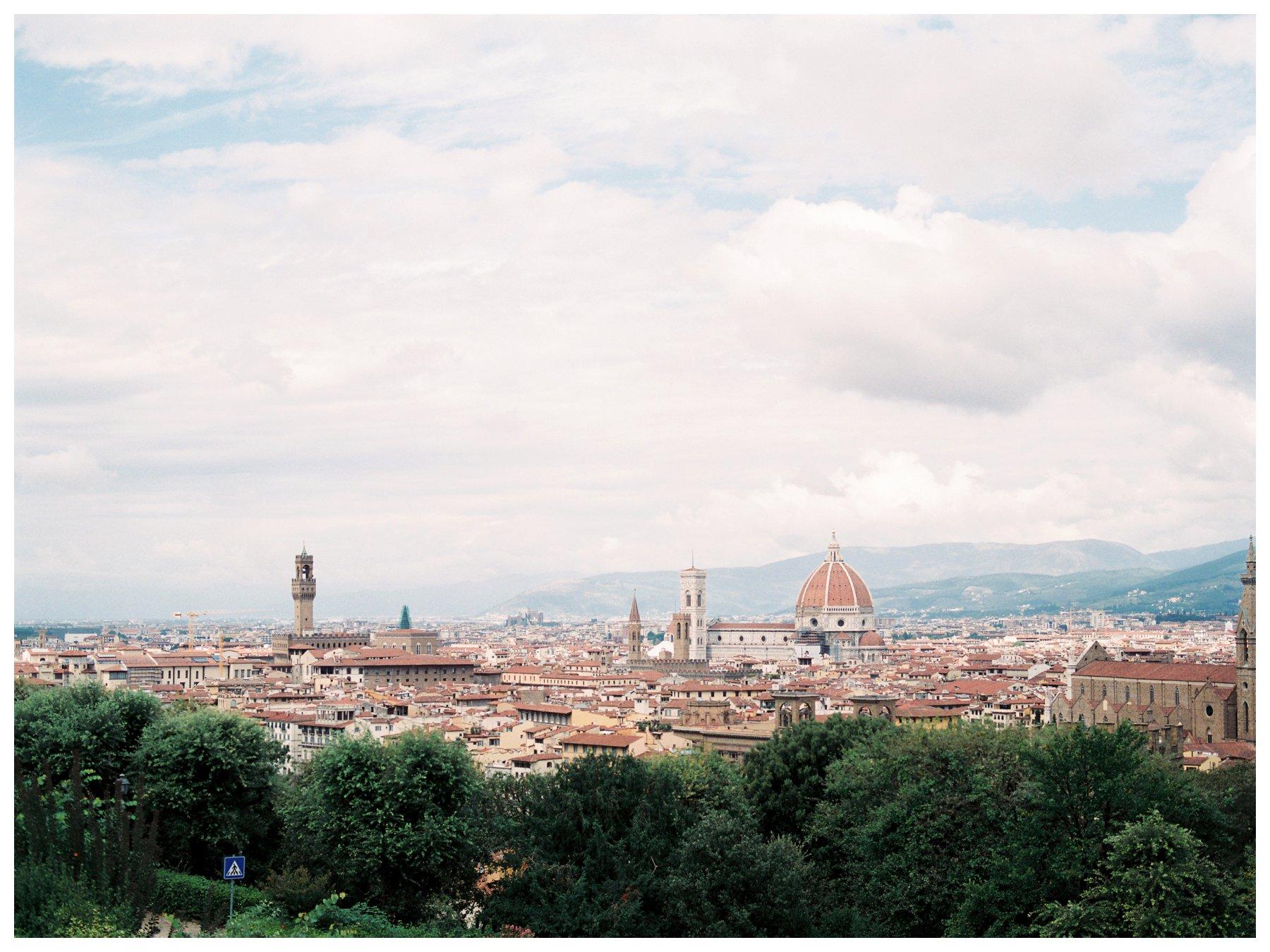 fine art travel photography of Florence skyline from Villa la Vedetta