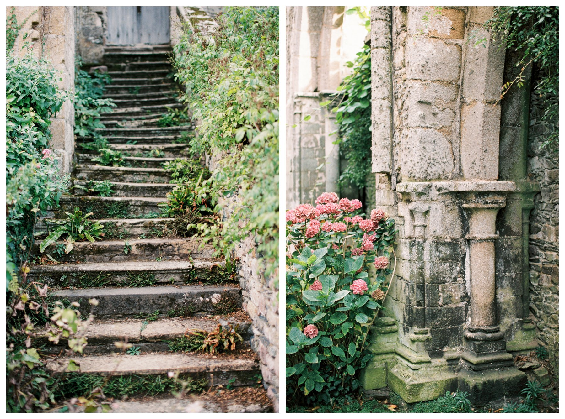 film photography of Abbaye de Beauport in Paimpol, France