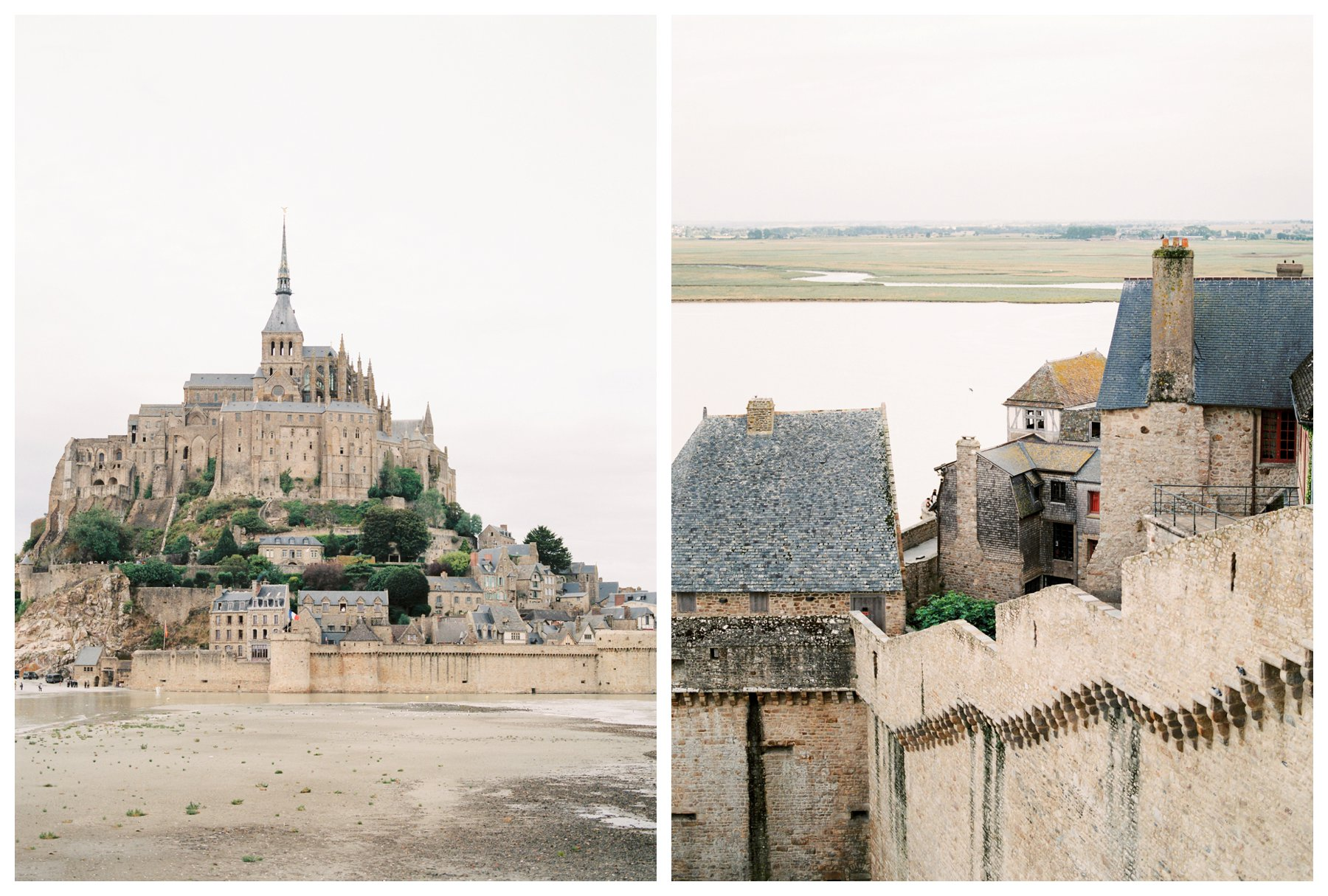 film photography of Mont St. Michel, France