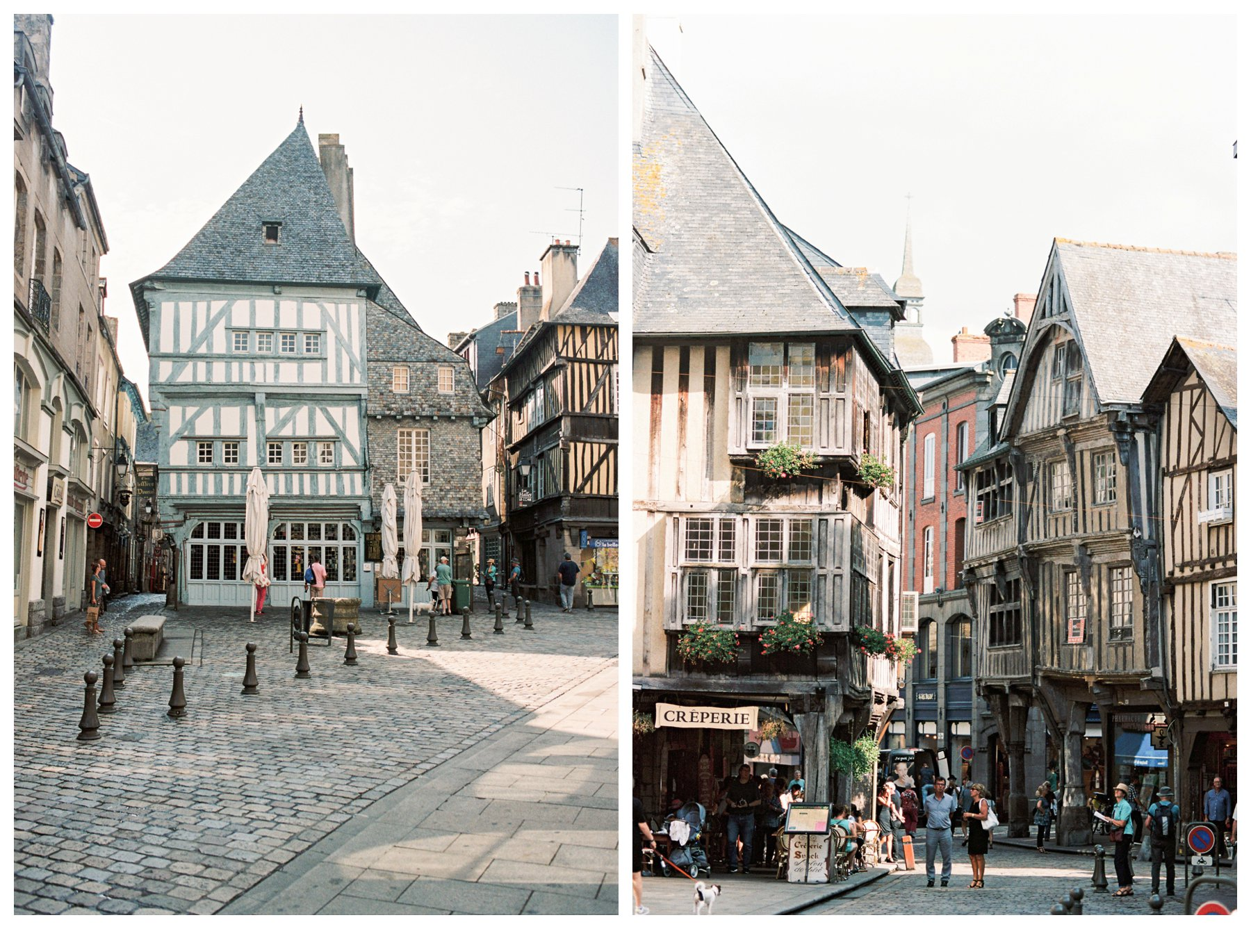 film photography of Dinan, France
