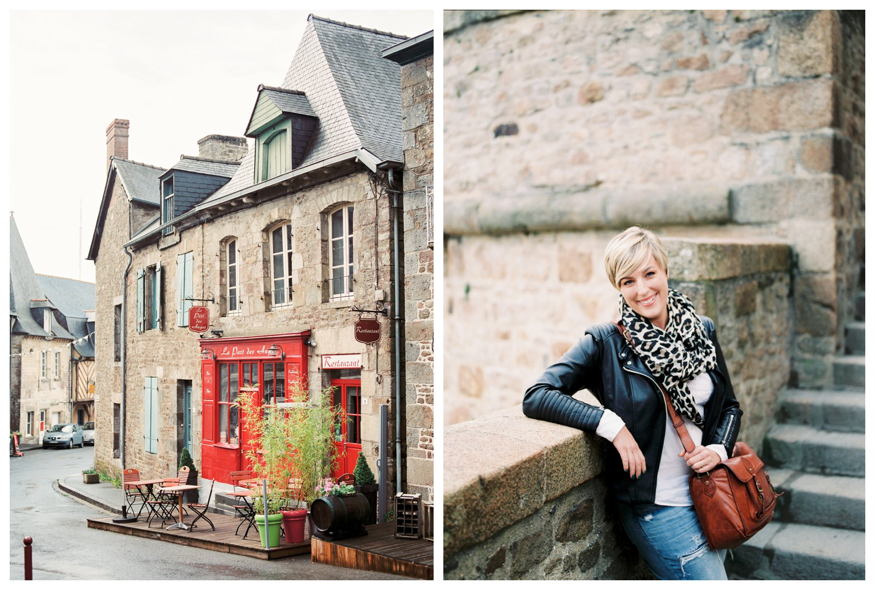 film photography of Becherel, France