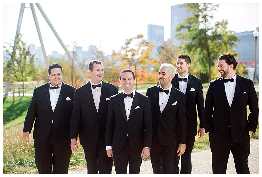 fine art photography of bridal party at Maggie Daley Park, Chicago