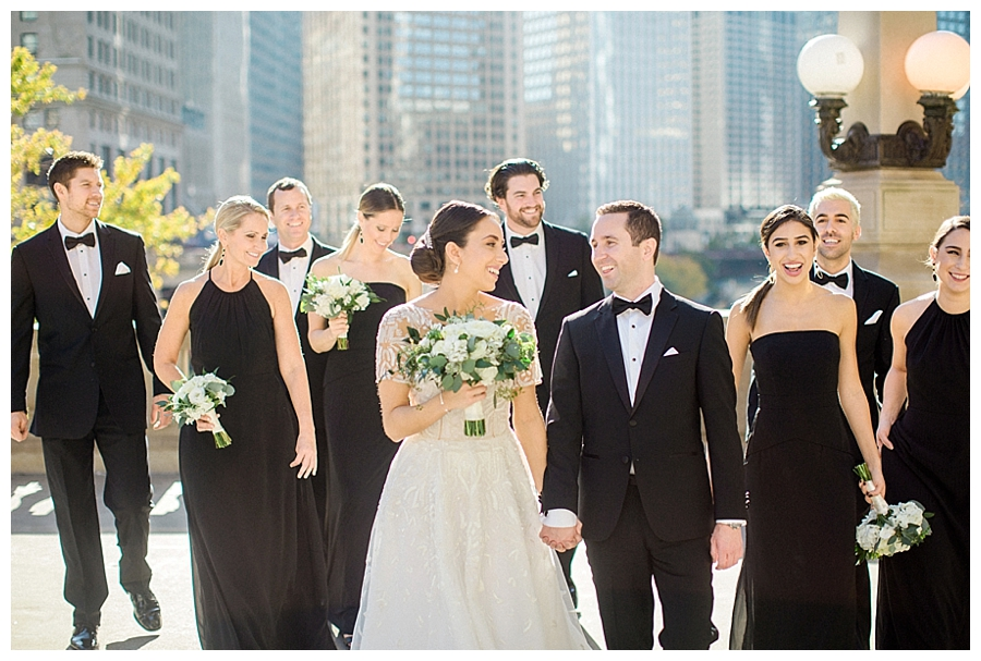 fine art wedding photography at Wrigley Building, Chicago