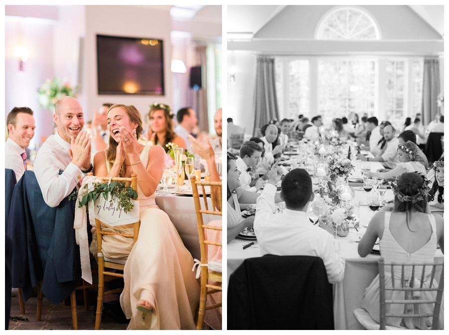 fine art wedding photography of garden inspired wedding reception at Shully's Watermark