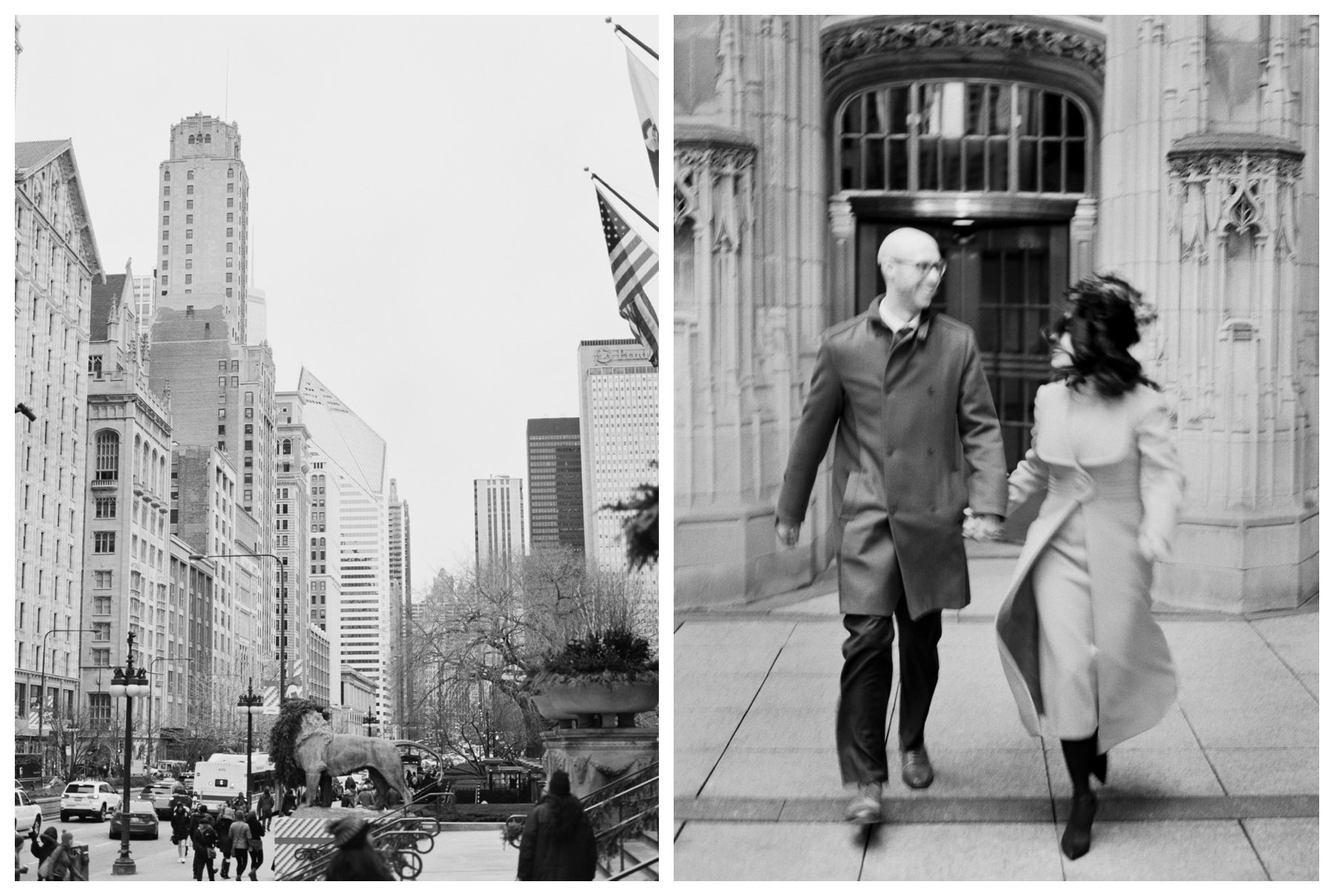 fine art wedding photography at the Tribune Tower in Chicago