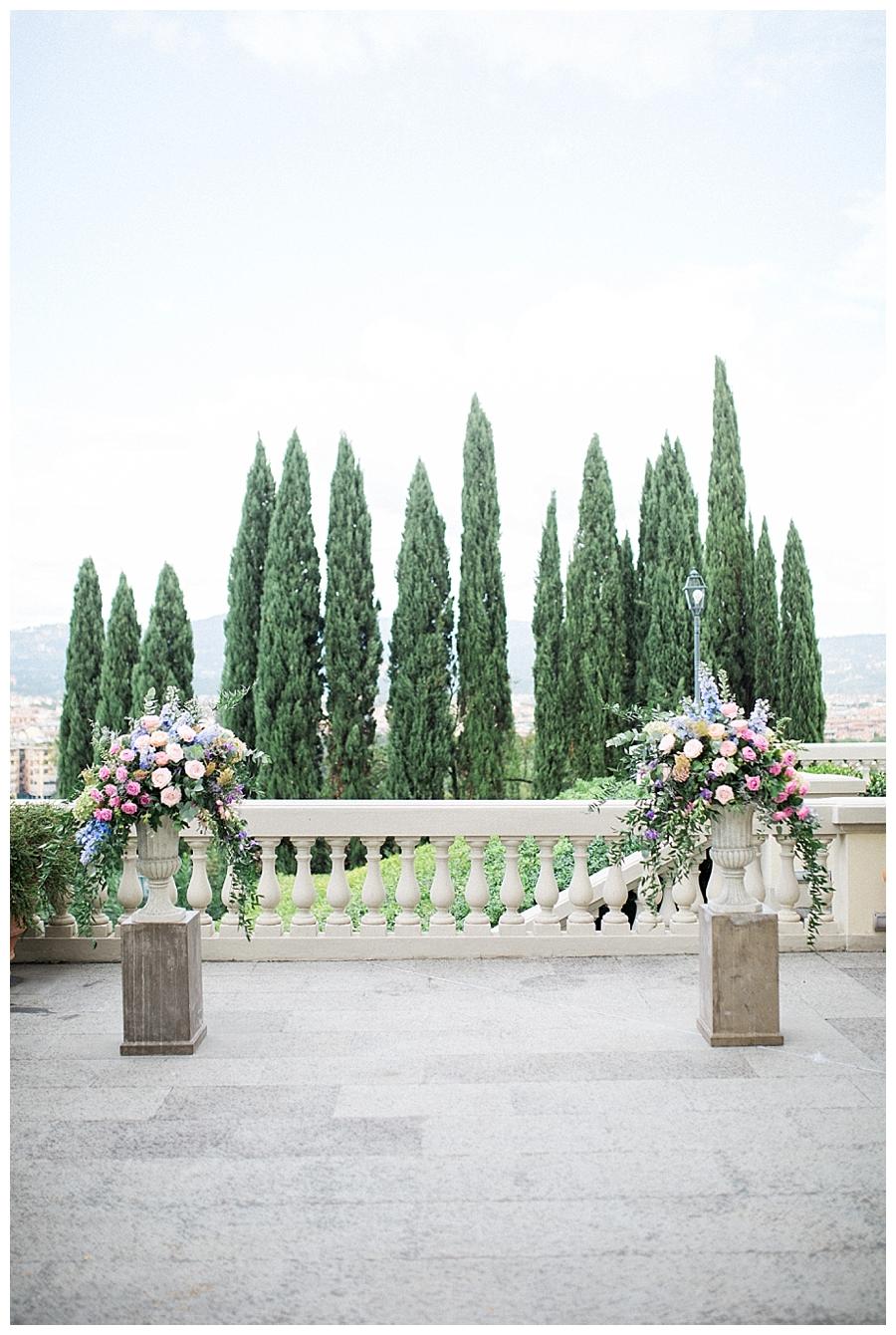 luxury destination wedding at Villa La Vedetta in Florence, Italy