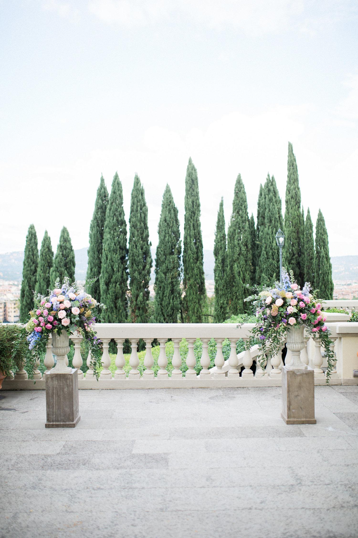 outdoor florence, italy destination wedding ceremony