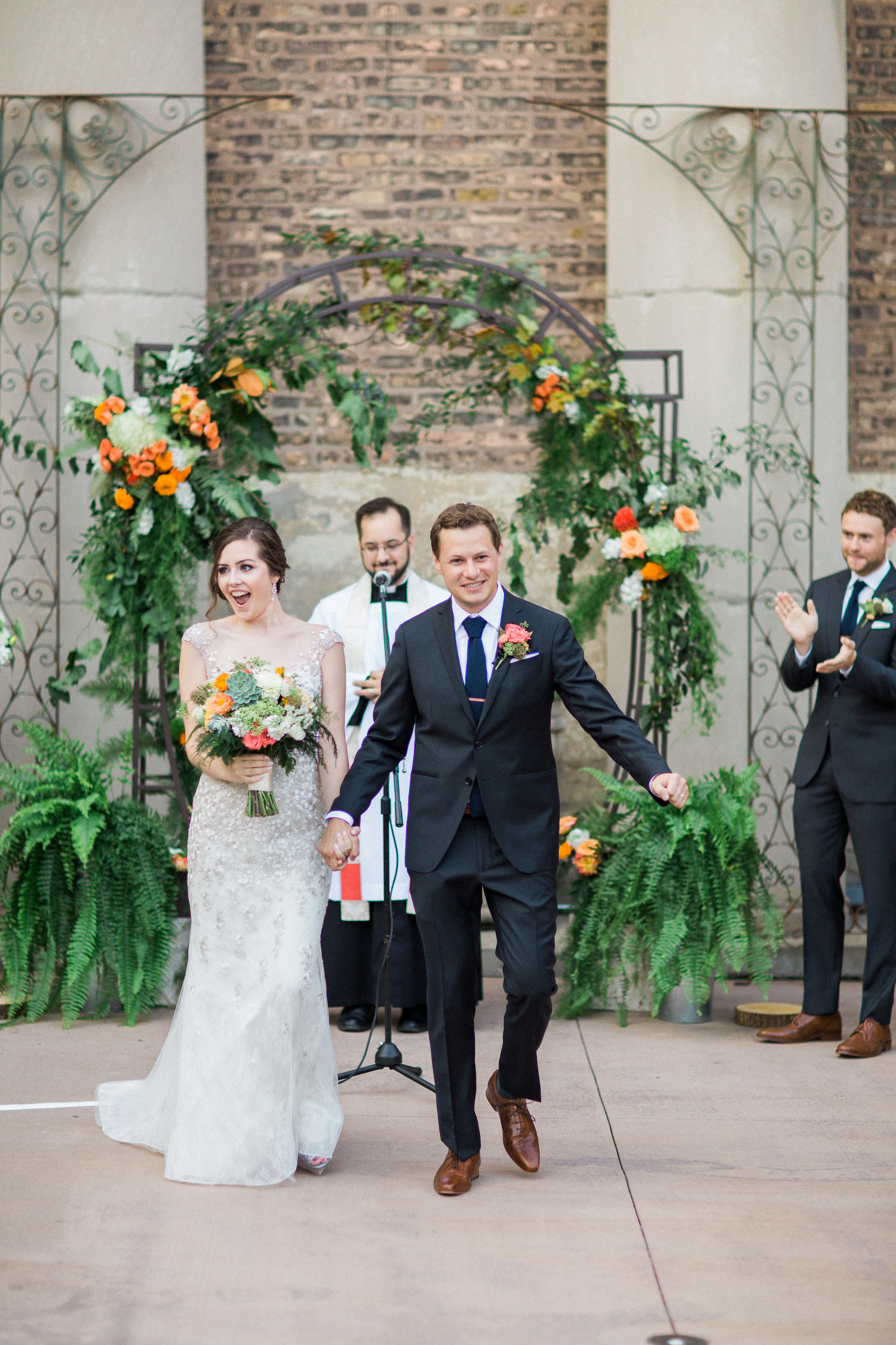 wedding ceremony at artifact events chicago