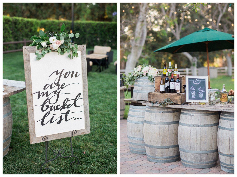 California wine barrel bar