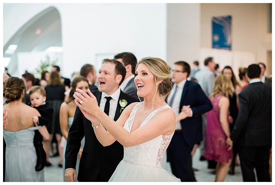 couple's first dance at Milwaukee Art Museum for their wedding