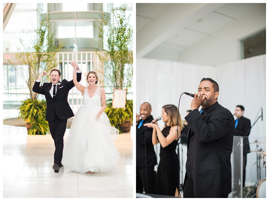 Grand march at Milwaukee Art Museum for their wedding