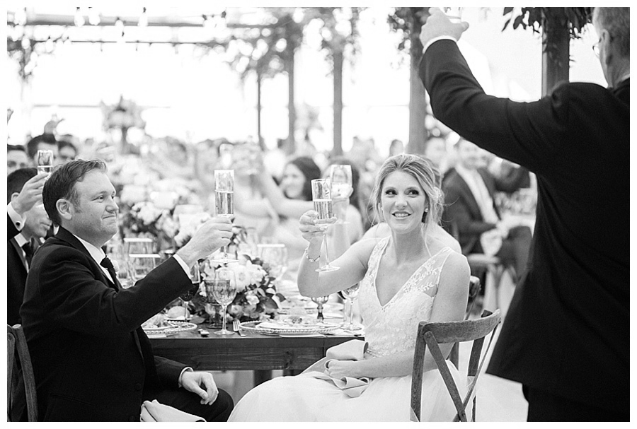 wedding toasts at Milwaukee Art Museum for their wedding