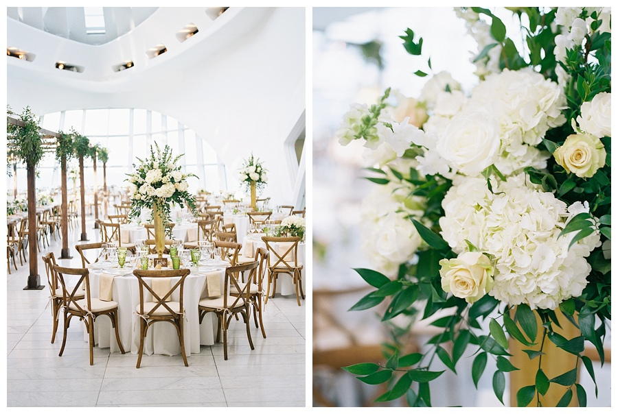 luxury floral design for Milwaukee Art Museum wedding